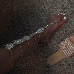 Shoedazzle Chrystal sandals
